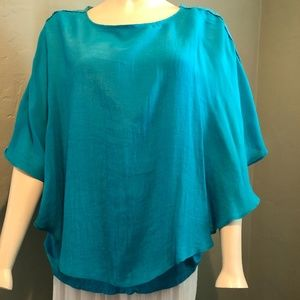 Turquoise Blue Flowing Top